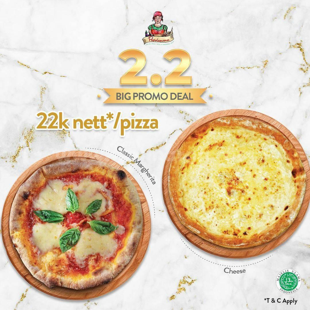 POPOLAMAMA Big Promo Deal 2.2! Dapatkan Harga Spesial Pizza Cuma Rp 22.000