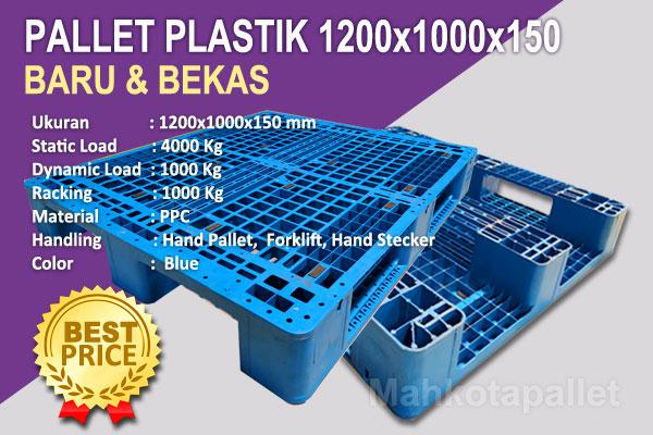 Pallet Plastik 1200x1000x150 | Spesifikasi dan Harga