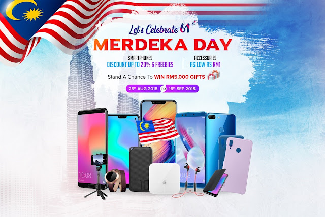 Honor Malaysia Merdeka Offer - 25 August 2018– 16 September 2018