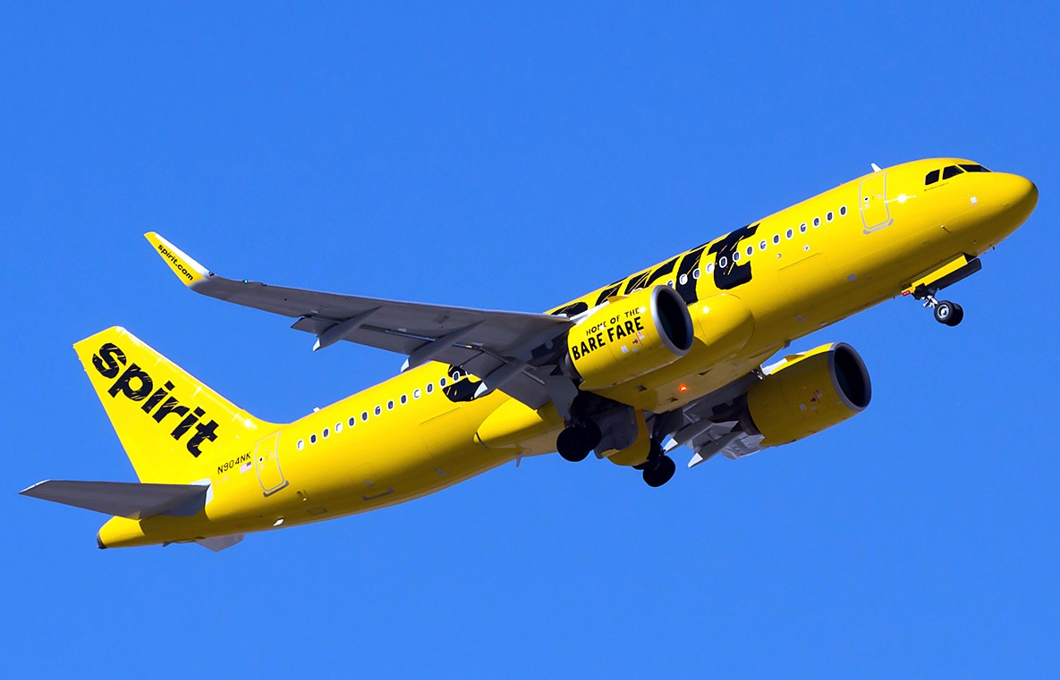 Airbus A320neo of Spirit Airlines November 2019 Delivery