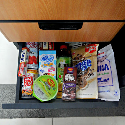 A drawer full of snack