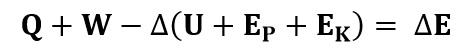 Ecuación del balance de energía en un sistema cerrado