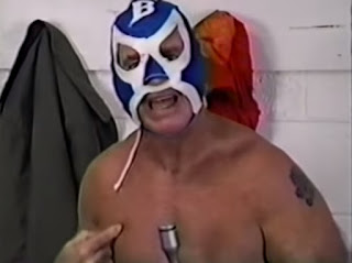 Smoky Mountain Wrestling - The Bullet threatened to stab Kevin Sullivan in a Singapore Spike match