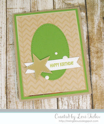 Happy Birthday card-designed by Lori Tecler/Inking Aloud-stamps and dies from Lil' Inker Designs
