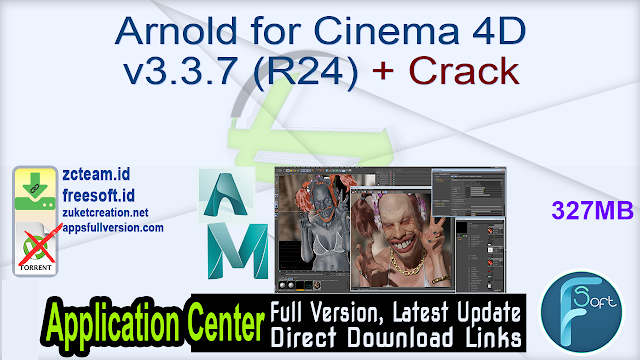 Arnold for Cinema 4D v3.3.7 (R24) + Crack_ ZcTeam.id