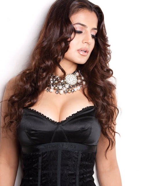 Bollywood Actress Ameesha Patel Sexy Boobs Cleavage Pictures
