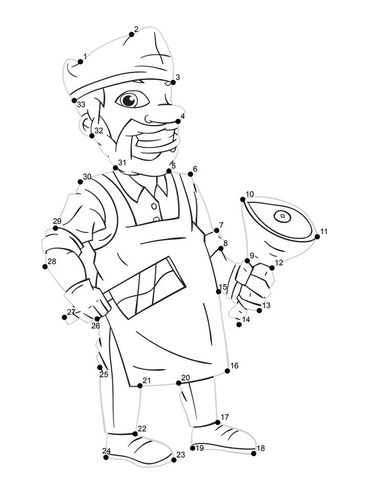 butcher dot tracing worksheet