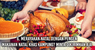 Anak rantau Merayakan Natal dengan Pengen Makanan Natal Khas Kampung? Minta Dikirimkan Aja