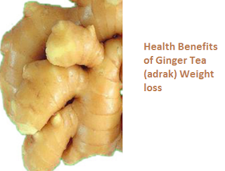 Health Benefits of Ginger Tea (adrak) Weight loss