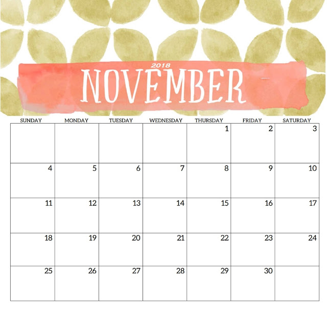Printable Calendar 2018 Editable