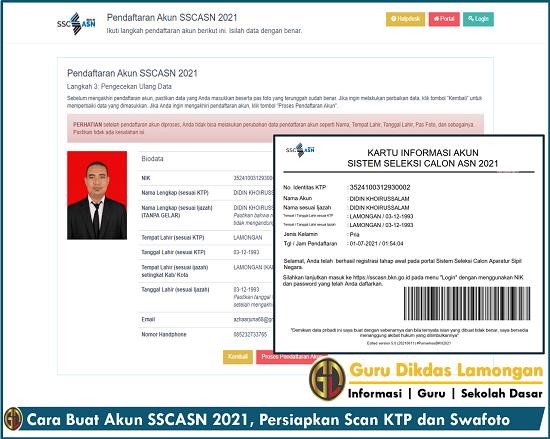 Cara Buat Akun SSCASN 2021, Persiapkan Scan KTP dan Swafoto