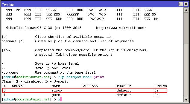 Cara Disable Enable User Hotspot Pada Jam Tertentu Dengan Scheduler