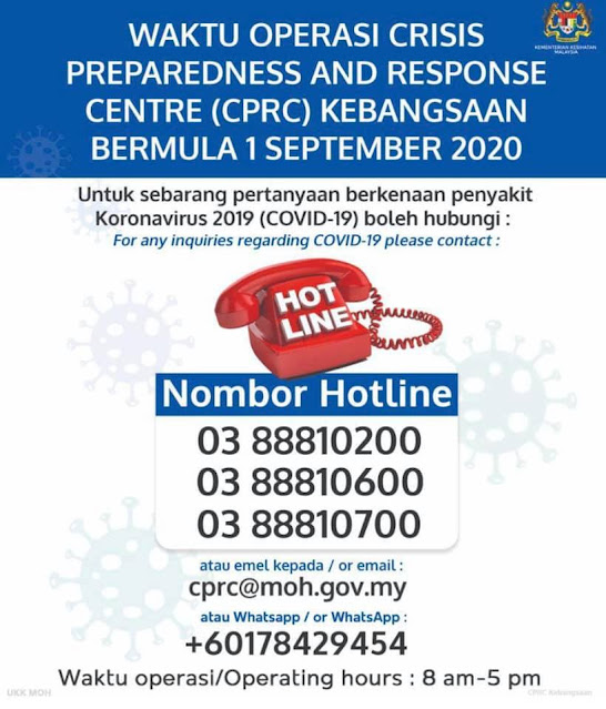 MALAYSIA CPRC COVID 19 - HOTLINE NUMBER