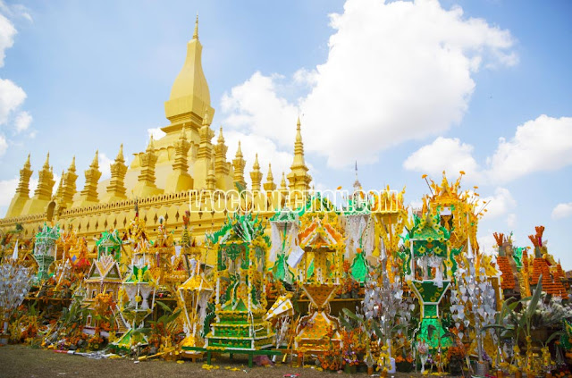The aftermath after the Tat Luang Festival in Vientiane