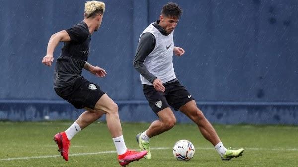Málaga, Matos realizó la primera sesión del entrenamiento con el equipo