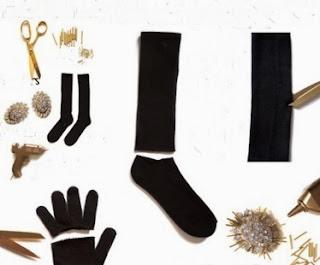 Çoraptan Abiye Eldiven Yapımı Resimli Anlatımı