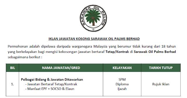 sarawak oil palms berhad jobs