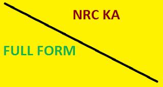 NRC Ka Full Form