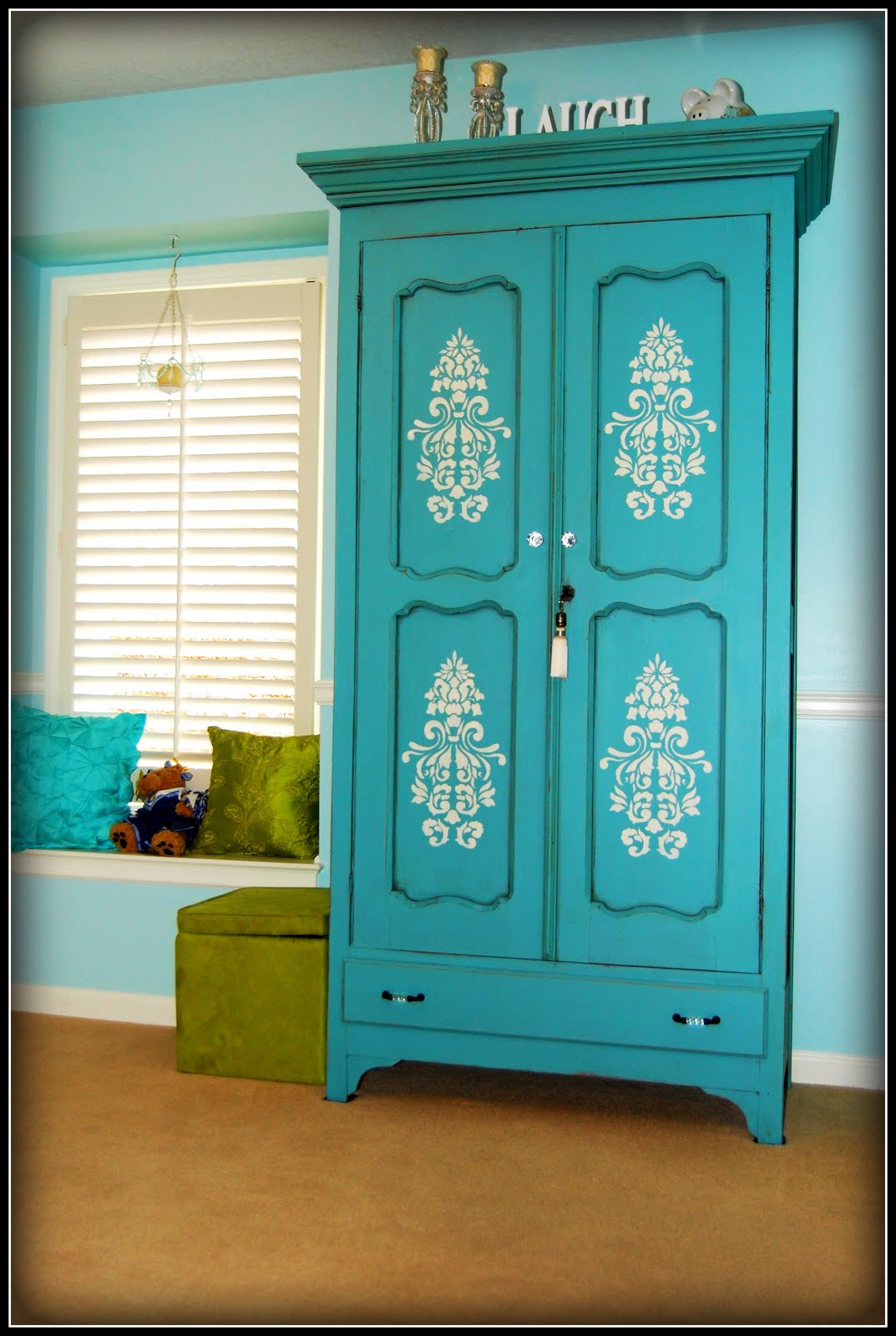 Kcfauxdesign Com Turquoise Armoire