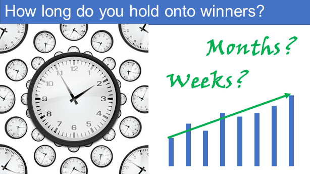 How long to hold onto winners?