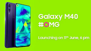 Samsung Galaxy M40 Smartphone will launch on 11th June in India