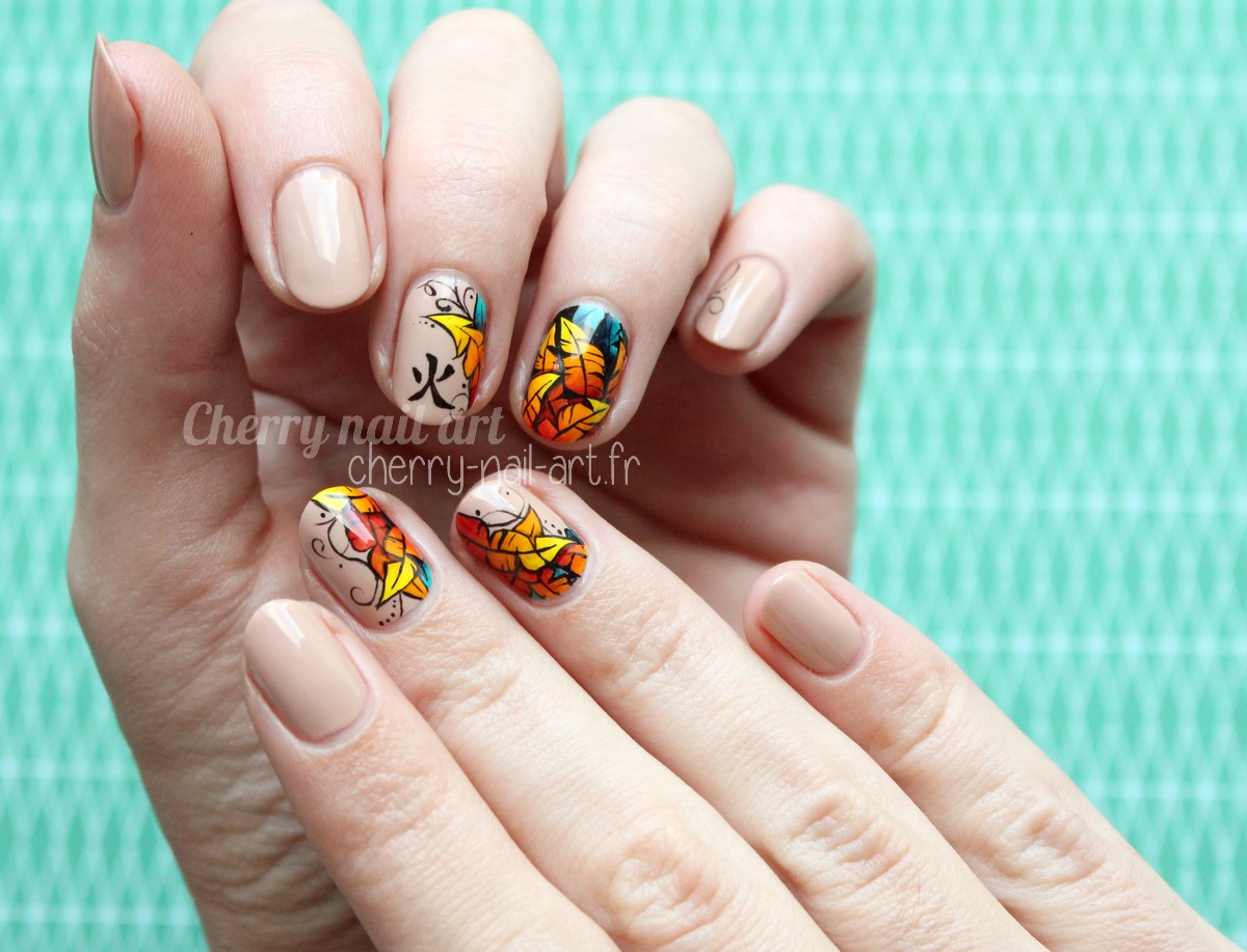 Cherry nail art blog mode beaut nail art nouvel an chinois coq de feu - Nail art nouvel an ...