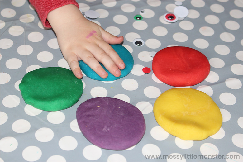 playdough monster activity for toddlers