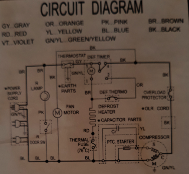 refrigerator electrical schematic fuse box diagram for 2004