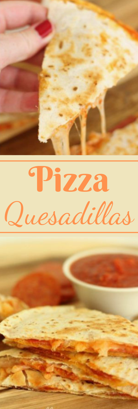 EASY PIZZA QUESADILLAS #pizza #dinner #easy #quesadillas #paleo