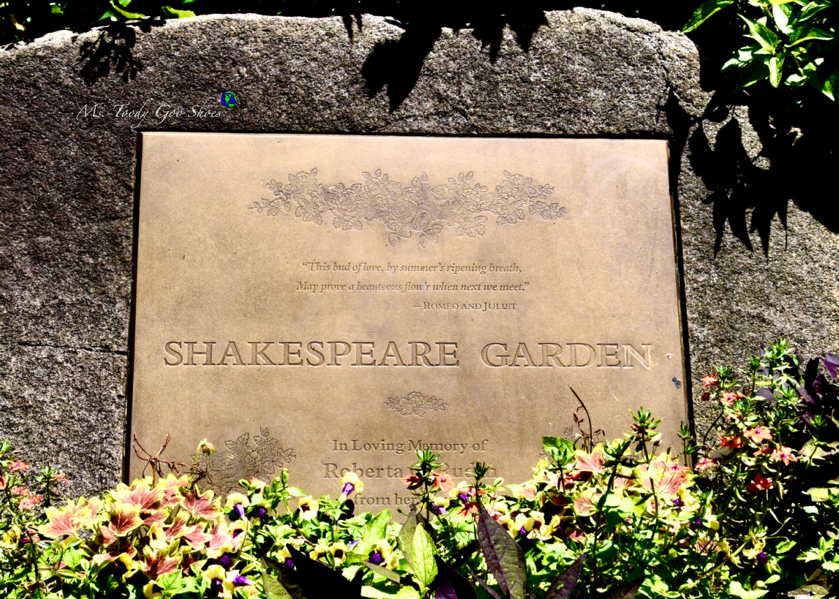 """Shakespeare Garden in Central Park is a """"must see"""" when visiting NYC in spring or summer. Ms Toody Goo Shoes #mycentralpark"""