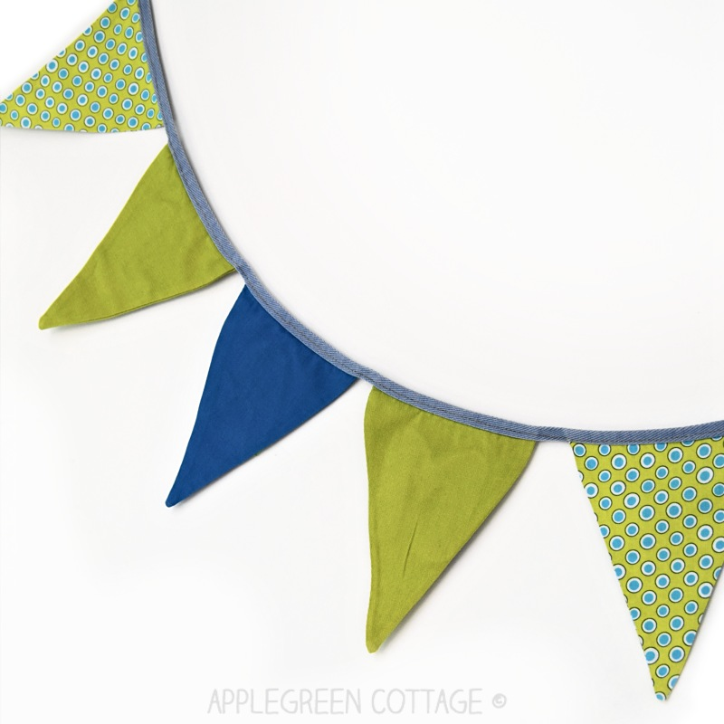bunting banner tutorial plus free pdf template applegreen cottage