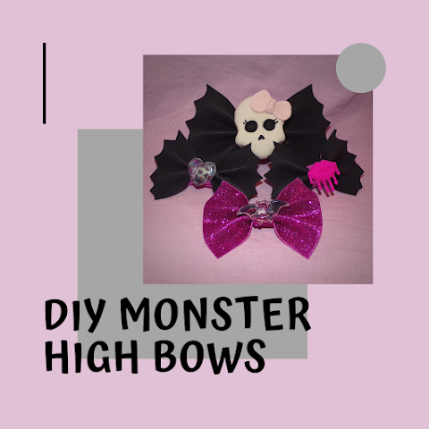How to Make DIY Monster High Inspired Bows
