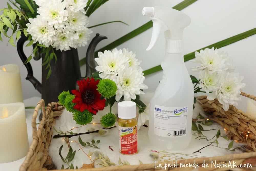 Recharge Salle de bain orange bio Etamine du Lys