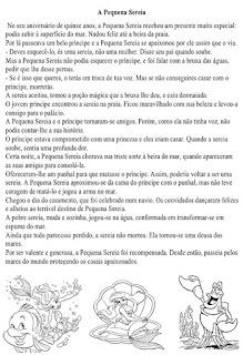 História da pequena sereia