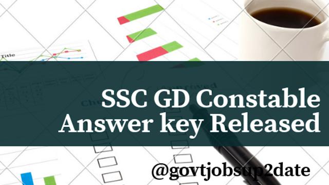 SSC GD Answer key 2019