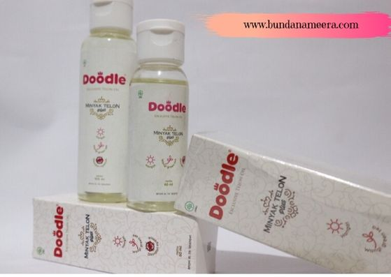 review minyak telon doodle, aromaterapi minyak telon doodle, manfaat minyak telon doodle, cara penggunaan doodle telon oil