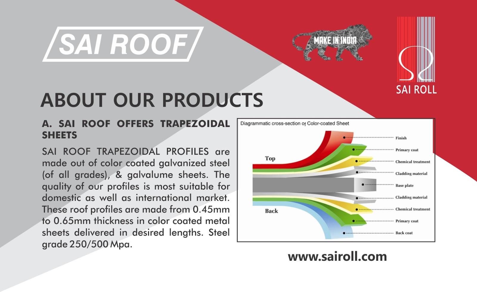 Meta colour sheets in bangalore - Coated Roofing Sheets Manufacturer In India