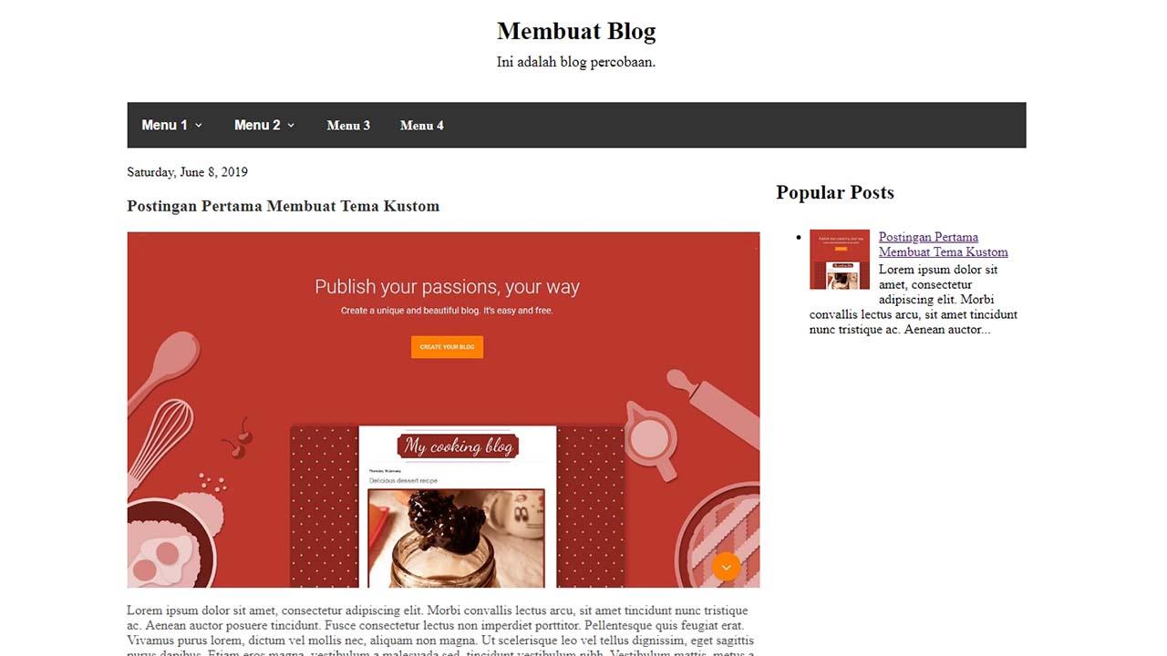 Bagian 3 Lanjutan Belajar Membuat Tema Kustom Blogger Dari Awal