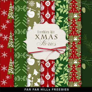 Freebies Xmas Paper Kit