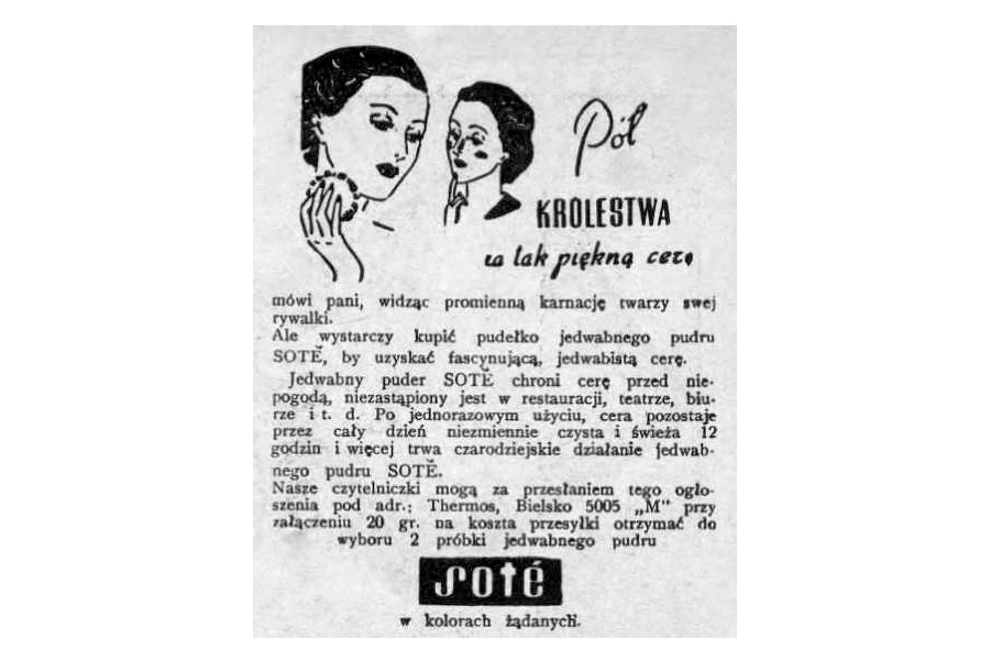 Reklama prasowa, 1939.