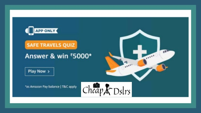 Amazon Safe Travels Quiz Answers Win – Rs.5000 Balance