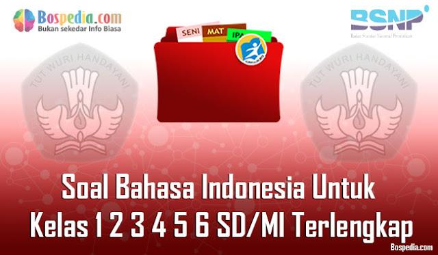 Soal Bahasa Indonesia Untuk Kelas 1 2 3 4 5 6 SD/MI Terlengkap dan Terupdate