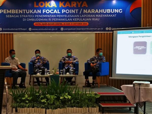 Ombudsman Kepri Gelar Lokakarya Pembentukan Narahubung