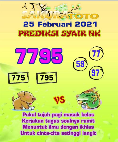 Syair HK Kamis 25 Februari 2021 -