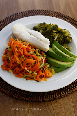 Haddock fillet with 4 types of veg