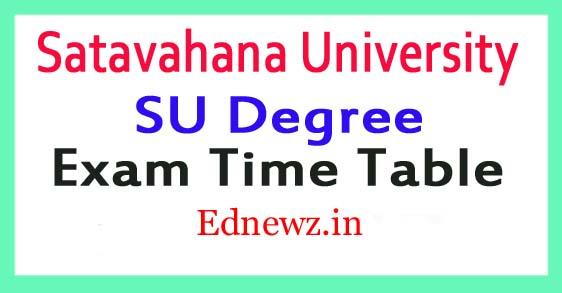 Satavahana University Degree Time Table 2021