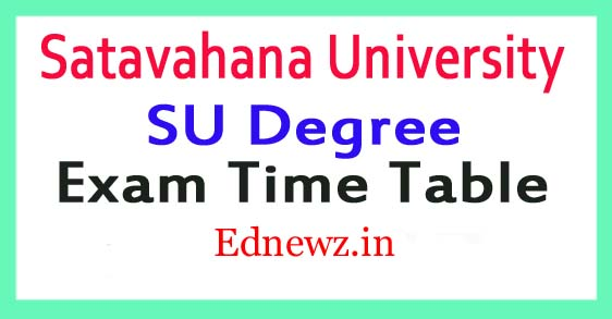 Satavahana University Degree Time Table