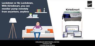 kirlosmart - iot based remote pump monitoring system