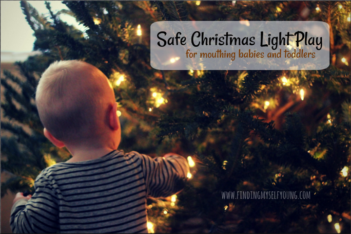 Sensory light play for babies and toddlers with fairy lights