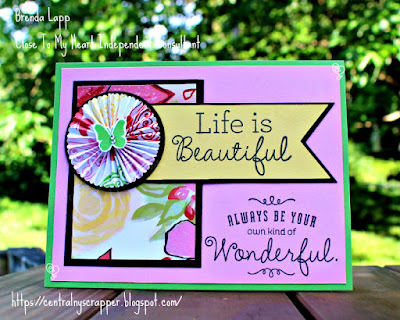 card crated for Bring Back My Pack–Brushed Blog Hop